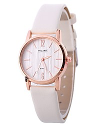 abordables -Xu™ Mujer Reloj de Pulsera Chino Creativo / Reloj Casual / Adorable PU Banda Moda / Minimalista Negro / Blanco / Azul / Un año