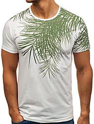 baratos -Homens Camiseta Básico Sólido Folha tropical