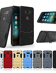 cheap -Case For LG V30 with Stand Back Cover Solid Colored Hard PC for LG V30