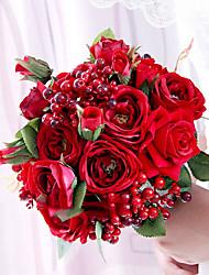 Недорогие -Искусственные Цветы 1 Филиал Классический / Односпальный комплект (Ш 150 x Д 200 см) Свадьба Розы Букеты на стол