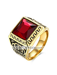 cheap -Men's 3D Band Ring - Titanium Steel Vintage, Punk Lolita 9 / 10 Black / Red For Daily Holiday