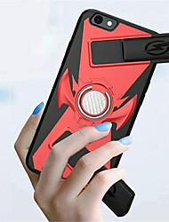 Недорогие -Кейс для Назначение Apple iPhone X / iPhone 8 Pluss / iPhone 8 Кольца-держатели / Игровой случай Кейс на заднюю панель Однотонный Твердый ПК