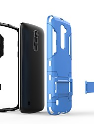 cheap -Case For LG K10 2018 / K10 (2017) with Stand Back Cover Solid Colored Hard PC for LG K10 2018 / LG K10 (2017) / LG K10