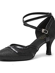 economico -Per donna Scarpe per danza moderna Vernice / Sintetico Tacchi Paillettes Tacco cubano Scarpe da ballo Oro / Nero / Carne