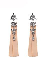baratos -Mulheres Longas Brincos Compridos - Na moda, Doce Preto / Azul / Rosa claro Para Presente Diário