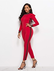 cheap -Women's Basic / Street chic Jumpsuit - Solid Colored