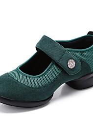 abordables -Mujer Zapatillas de Baile Sintéticos Zapatilla Corte Talón grueso Personalizables Zapatos de baile Verde