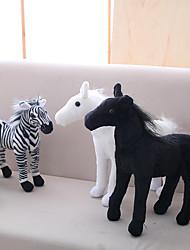 Недорогие -Лошадь Зебра Мягкие и плюшевые игрушки Животные Милый Акрил / хлопок Игрушки Подарок 1 pcs