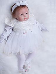 Недорогие -OtardDolls Куклы реборн Девочки 22 дюймовый Силикон - как живой Искусственная имплантация Коричневые глаза Детские Девочки Игрушки Подарок