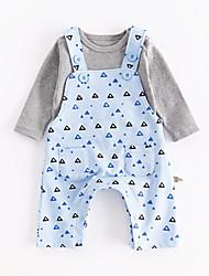 お買い得  -赤ちゃん 男の子 幾何学模様 長袖 アンサンブル