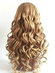 cheap -Remy Human Hair U Part Wig Brazilian Hair Wavy Blonde Wig Layered Haircut 130% Color Gradient / Dark Roots Blonde Women's Short / Long / Mid Length Human Hair Lace Wig