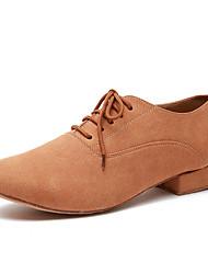 economico -Per uomo Scarpe per danza moderna Microfibra Sneaker Pizzo Tacco spesso Scarpe da ballo Verde militare / Cammello