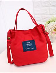 お買い得  -女性用 バッグ キャンバス ショルダーバッグ ジッパー イエロー / ダークグリーン / ライトグレー