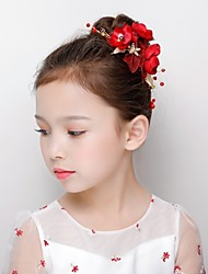 cheap -Alloy Hair Clip with Acrylic / Petal / Flower 1 Piece Wedding / Party / Evening Headpiece
