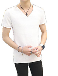 cheap -Men's Basic / Street chic T-shirt - Solid Colored