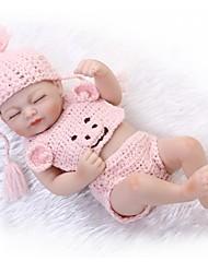Недорогие -NPKCOLLECTION Куклы реборн Девочки 12 дюймовый Полный силикон для тела Винил - как живой Детские Девочки Игрушки Подарок