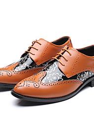 Недорогие -Муж. Официальная обувь Синтетика Осень Туфли на шнуровке Черный / Желтый / Коричневый / Свадьба / Обувь для новинок