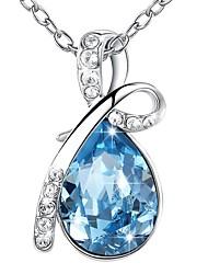 preiswerte -Damen Anhängerketten - 18K vergoldet Böhmische Blau 40+5 cm Modische Halsketten Für Party, Geschenk