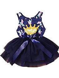 cheap -Baby Girls' Geometric Sleeveless Dress