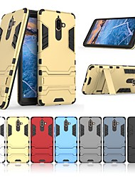 cheap -Case For Nokia Nokia 7 Plus with Stand Back Cover Solid Colored Hard PC for Nokia 7 Plus