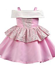 cheap -Kids Girls' Jacquard Sleeveless Dress
