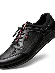 economico -Per uomo Scarpe comfort Pelle Primavera Sneakers Nero