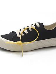 preiswerte -Damen Schuhe Leinwand Sommer Komfort Sneakers Flacher Absatz Runde Zehe Purpur / Blau / Rosa