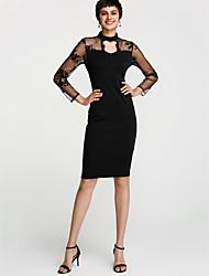 cheap -Women's Club Bodycon Dress - Patchwork Sequin Black, Sequins Cut Out Mesh