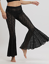 cheap -Women's Punk & Gothic Wide Leg Pants - Solid Colored Black & White, Tassel