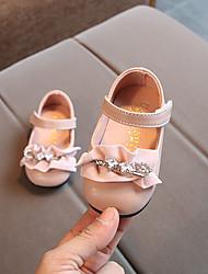 abordables -Chica Zapatos Sintéticos Primavera verano Primeros Pasos Bailarinas Pedrería / Cinta Adhesiva para Bebé Negro / Rojo / Rosa