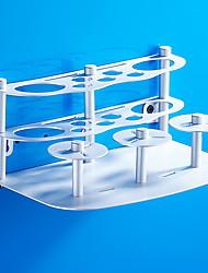 baratos -Prateleira de Banheiro / Suporte para Escova de Dentes Novo Design Modern Alumínio 1pç Montagem de Chão