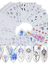 Недорогие -40 pcs Искусственные советы для ногтей Формы для ногтей Набор для ногтей маникюр Маникюр педикюр Модный дизайн / Творчество Наклейки для ногтей На каждый день / Украшения для ногтей