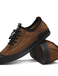 povoljno -Muškarci Cipele Koža Proljeće Udobne cipele Sneakers Crn / Braon