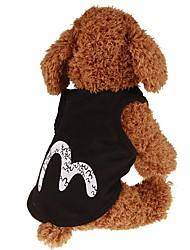 cheap -Dogs / Cats / Pets Vest Dog Clothes Simple / Classic / Letter & Number Black Plush Fabric / Cotton Costume For Pets Female Japan and