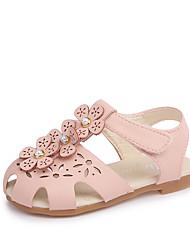baratos -Para Meninas Sapatos Couro Ecológico Primavera Verão Conforto Sandálias Caminhada Vazados para Branco / Verde / Rosa claro