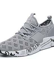 cheap -Men's Light Soles Mesh Summer Comfort Athletic Shoes Running Shoes Color Block White / Black / Gray