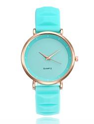 cheap -Xu™ Women's Wrist Watch Quartz Casual Watch Silicone Band Analog Casual Fashion Black / White / Blue - Blue Pink Light Green One Year Battery Life
