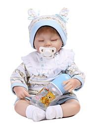 Недорогие -NPKCOLLECTION NPK DOLL Куклы реборн Мальчики 18 дюймовый как живой Подарок Очаровательный Детские Мальчики / Девочки Игрушки Подарок