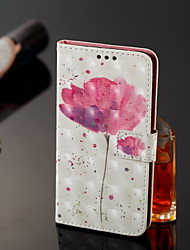 cheap -Case For Nokia Nokia 7 Plus / Nokia 6 2018 Wallet / Card Holder / with Stand Full Body Cases Flower Hard PU Leather for Nokia 7 Plus /