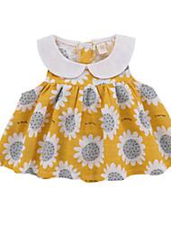 お買い得  -赤ちゃん 女の子 プリント ノースリーブ ドレス