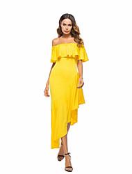 economico -Per donna Fodero Vestito Asimmetrico