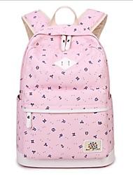 cheap -Women's Bags Canvas School Bag Pattern / Print Dark Blue / Fuchsia / Sky Blue
