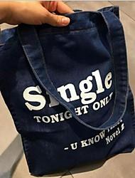 cheap -Women's Bags Canvas Tote Zipper Blue / Dark Blue