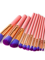 cheap -12pcs Makeup Brushes Professional Make Up Nylon fiber Full Coverage / Comfy Wooden / Bamboo