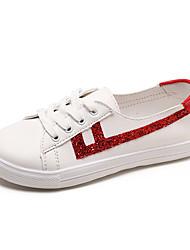 povoljno -Žene Cipele PU Proljeće ljeto Udobne cipele Sneakers Hodanje Ravna potpetica Okrugli Toe Šljokice Crn / Pink / Crvena