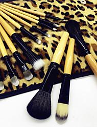 preiswerte -12 Stück Makeup Bürsten Professional Bürsten-Satz- Kunstfaser Pinsel / Nylon Pinsel Umweltfreundlich / Professionell / Weich Holz / Bambus