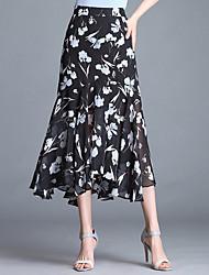 povoljno -ženske odlazne midi swing suknje - cvjetni
