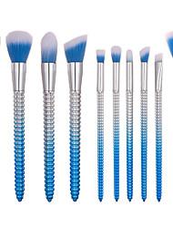 cheap -10-Pack Makeup Brushes Professional Makeup Brush Set Nylon fiber Eco-friendly / Soft Plastic