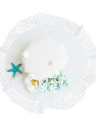 Недорогие -Ткань Головные уборы / Аксессуары для волос с Цветы 1шт Свадьба / Особые случаи Заставка