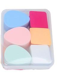abordables -6 pcs pcs Houppette / Eponge Éponge Rond Maquillage / Utilisation Générale simple Adorable Usage quotidien Accessoires de Maquillage Maquillage Quotidien